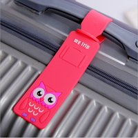 airplane travel accessories - Piece Travel Accessories Cute Cartoon Silicone Luggage Tag Suitcase Backpack Airplane Plane Fashion New