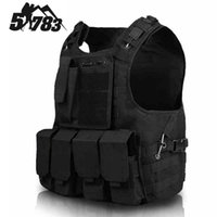 Wholesale Brand Hunting Army CS Paintball Go Vest Airsoft Tactical Military Molle Combat Assault Plate Carrier Vest Chaleco Tactico