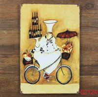 Wholesale Cycling red wine Tin Sign Bar pub home Wall Decor Retro Metal Art Poster