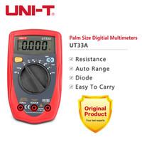 automatic multimeter - Megohmmeter Multimeter UNI T UT33A Mini Palm size Ammeter Multitester automatic range Digital Multimeter DC AC Resistance