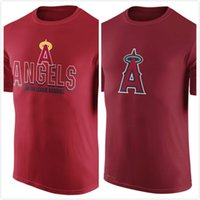 angels tshirt - Los Angeles Angels of Anaheim Authentic Collection Legend Logo Performance T Shirt Red Men s Clothing TShirt Size S XL