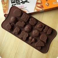 Wholesale Cute DIY Chocolate Molds Various Pattern Fashion Kitchen Jelly Ice Molds Cake Mould Bakeware of