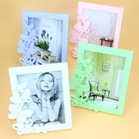 Wholesale Modern Colourful Butterfly Rectangle Photo Frame With One Picture quot For New Baby And Sweet Lover Gift