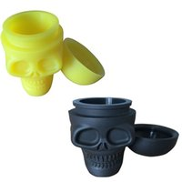 Wholesale 2016 New Colorful Silicone Skull Container ml Silicone Non Stick Container Jar With Lids