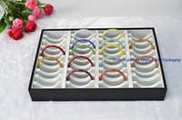 Wholesale Jewelry Display Prop Slots Leatherette Compartments Bracelet Tray Bangle Storage Box Holder Organizer