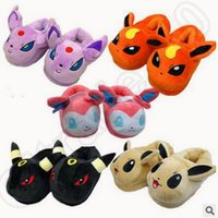 abnormal animals - New Unisex Poke Pikachu Umbreon Home Warm Cosplay Adult Plush Ibrahimovic Novelty Shoes Slippers Style Indoor Slippers CCA4678 pair