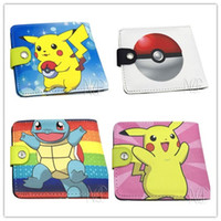 Wholesale Poke Wallets Purse Designs Pikachu Wallet Card Holder Poke Go Cartoon Students Wallets Hot Sale
