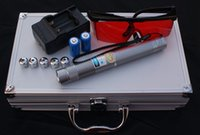 beam suits - 445nm nm Blue light Power Beam Cigarette Burning Laser Pointer Pen Suit Adjustable Silver Body m With Glasses