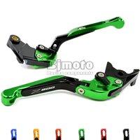 adjustable motorcycle levers - New Green Motorcycle Adjustable CNC Aluminum Brakes Clutch Levers Set Motorbike brake For Kawasaki Z800 E version
