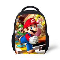 Wholesale Super Mario Backpacks For Kids - Fashion Children Cartoon School Bags 12'' Small Super Mario Bors Backpack For Boys Kids Schoolbag Mochila Infantils Baby Bookbag