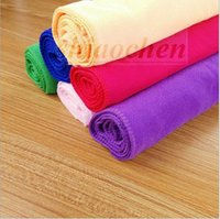 bathroom hair dryers - Hot Microfiber Towels Super Absorbent Towel soft Durable Car Washing Towels Dishcloth Bathroom Clean Towels Bamboo Hair Drying Towel A449