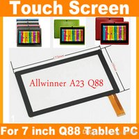 Wholesale Freeshipping Replacement quot Capacitive Touch Screen Digitizer Panel for inch Allwinner A13 A23 A33 Q8 Q88 Tablet PC Q88 TP Q8 TP JF A7