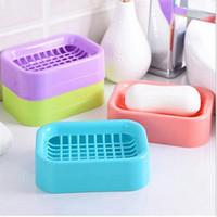 Wholesale 2016 new Creative DoubleDraining Soap Holder Non slip Soap Dish Soap Box