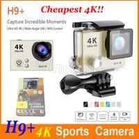 La vidéo la plus chère de HD 4K caméra de sports de 140 degrés grand angle étanche 30m 2 pouces 1080p 60fps 12MP HD action caméra H9 + HDMI wifi DHL