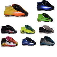 Wholesale 2016 high top Original Quality Mercurial Superfly FG hot sale Mens Football Shoes Cleats Cheap Magista Obra Outdoor Superfly Soccer Shoes