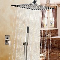 bath lighting brushed nickel - Brushed Nickel Bath Shower Faucet Ceiling Mount quot Shower Head with Hand Spray