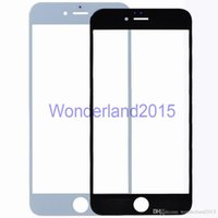 Wholesale 10PCS free ePacket Original New glass for iphone S inch S Plus inch front glass lens to repair LCD