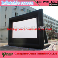 Wholesale Hot sale strong D oxford cloth inflatable movie screen with free air blower and by express