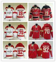 Wholesale Men s NHL Ice hockey jersey Fleece Hoodie Washington Capitals BACKSTROM HOLTBY KUZNETSOV The traditional embroidery