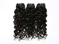 Wholesale 7A Brazilian Virgin Hair Water Wave Bundles g Virgin Brazilian Human Hair Weave Brazillian Curly Weave Hair Extensions