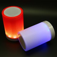 bedside tables sale - Hot sale Bluetooth Speakers LED Lighting Touch Lamp Speaker Smart Table Lamp Bedside wireless speakers for Mobile Phone Support TF card