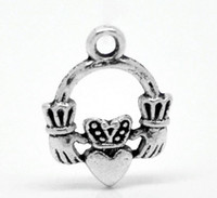 antique claddagh rings - 30PCs Antique Silver Claddagh Ring Charm Pendants mmx14mm quot x quot Mr Jewelry