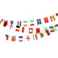 Wholesale ANSELF European Cup Countries World String Flag Hanging Flag Banner H17085
