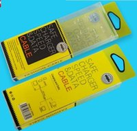 El cable del USB del paquete al por menor del PVC del plástico al por mayor del plástico encajona el sostenedor interno de las cajas para el iPhone 7 más 6S más el borde del SE Samsung S6 S7
