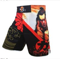 Wholesale MMA Men s breathable and comfortable sports style muay thai boxing shorts kickboxing short muay thai mma fight boxeo cheap mma