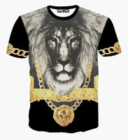 baroque chain print - Harajuku totem lion animal d t shirt vintage religion baroque style Shackle Chain Graphic t shirts women men summer tee tops
