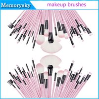accessories cosmetic case - Makeup Tools Accessories Makeup Brushes sets kit Cosmetic Goat Hair Brush Set Kit Case colors hot new