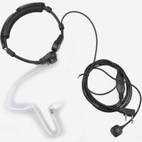 Wholesale Baofeng Walkie Talkie Extendable Throat Microphone Mic Earpiece Headset for UV R UV RE Plus UV B5 UV B6