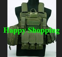 Wholesale Tactical Molle Combat Strike Plate Carrier Military Hunting Outdoor Vest Green