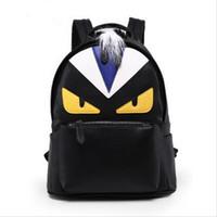 Wholesale 2017 fashion Little Monster Devil Schoolbag Men Women New Shoulders Bag Demon Eyes Cartoon Schoolbags Backpack Wallet