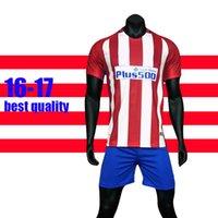Wholesale 16 Soccer Jersey Griezmann Fernando Torres Camisetas de Futbol Koke Gabi Jackson Home Away Football Shirt