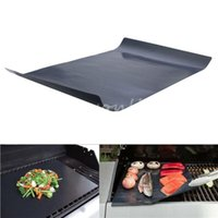 barbeque grill tool sets - 1pc Portable Cooking BBQ Barbeque Grill Non Stick Surface Sheets Mat Hot Plate Mats Grilling Easy Clean Cooking Tools