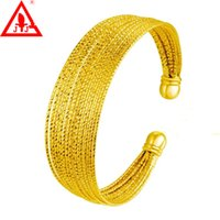 bean charm - New Style Lines Luxury Bangles Fashion Jewelry K Yellow Gold Plated Classic Design Charms Promotion Limited European Bean
