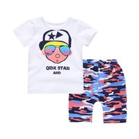 Wholesale Summer new children s two piece short shorts suit round neck cotton T shirt and comfortable breathable fashion