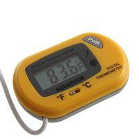 Wholesale YK Digital LCD Fish Home Aquarium Terrarium Marine Thermometer black FreeShipping Brand