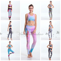 army clothings - 2pcs set yoga clothings set t Shirts Skinny Legging Pants Sports tank top sets Gym Running Singlet Vest women Camisole M411