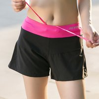 Wholesale Professional Women Breathable Yoga Running Shorts Female Sports Thin Shorts Tighten Up Drawstring Containing Liner Anti Emptied