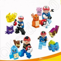 Wholesale Poke Building Block Pocket Monster Pikachu toy bricks Toy per set Minifigures Cute Toys OOA621