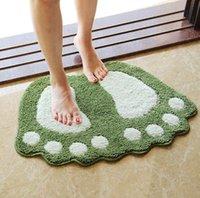 american sanitary - Non slip mat bedroom bathroom sanitary toilet door mat big feet bibulous cartoon MATS anti skid carpet