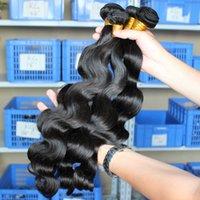 Wholesale Brazilian Hair Human Hair Waves Natural Black Color Malaysian Hair Bundles Indian Peruvian Mongolian Human Hair Bundles
