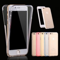 Wholesale For iphone7 plus Full Body Case Degree Front Back Transparent Soft TPU Cover for iphone plus s Note S7 edge