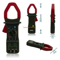 Wholesale MASTECH M9912 Digital Clamp Meter Auto Range Counts Digital AC DC Clamp Meter Voltage Current Resistance Frequency Tester
