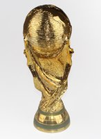Wholesale Good quality gold plated World Cup trophy cm sports memorabilia RESIN CUP MEM