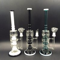 Wholesale 2016 NEW Glass Bongs white mouth and green Competitive Water pipes with three stone percolator PERC Join Size mm Hot Sale special offer