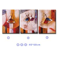 ballet combination - 3pcs Oil Painting Unframed Abstract Oil Painting Set Ballet Dancer Canvas Painting by Number Wall Art for Living Room Decoration