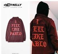 Wholesale New Pre Sale I Feel Like Pablo Men Jacket Hip Hop Long Sleeve Baseball Man Yeezus Bomber Jackets Casual Kanye West Outerwear Colors